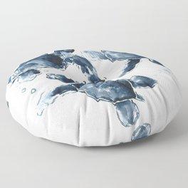 Swimming Sea Turtles Floor Pillow