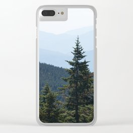 Green Mountains Clear iPhone Case
