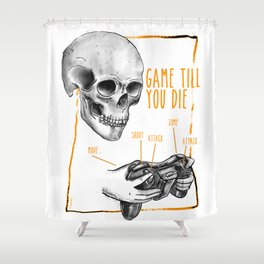 game till you die Shower Curtain