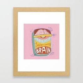 Canned Brain Framed Art Print