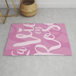 La vie en rose (pink mood) Rug