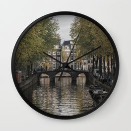 The Canals of Amsterdam Wall Clock
