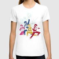 power rangers T-shirts featuring power glove rangers by Louis Roskosch