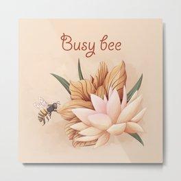 Full bloom | Busy bee Metal Print