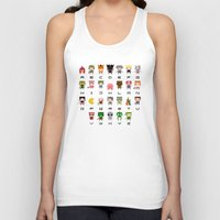 video games Tank Tops featuring Video Games Pixel Alphabet by PixelPower