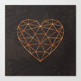 COPPER HEART Canvas Print