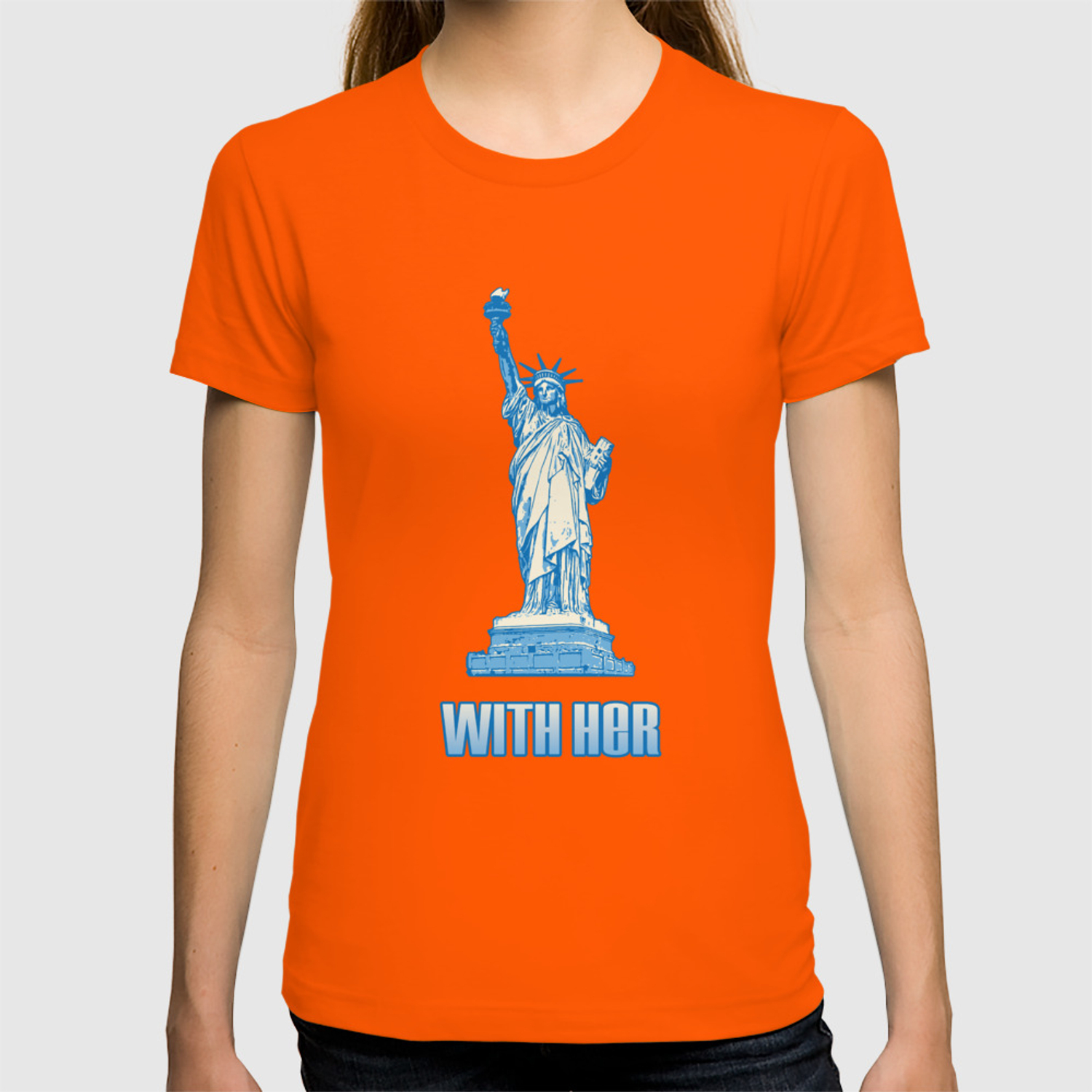 ed5c12e49c69 Patriotism USA Flag With Her Statue of Liberty T-shirt by knuxxshop |  Society6