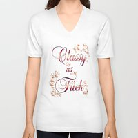classy V-neck T-shirts featuring Classy by Elle Sturgeon