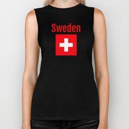 Sweden - Swiss Flag Biker Tank