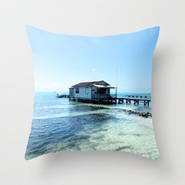 White Shack on the Water  Throw Pillow