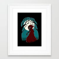 red riding hood Framed Art Prints featuring Red Riding Hood 2 by Freeminds
