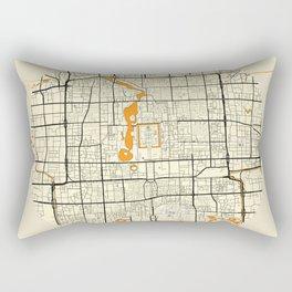 Beijing Map Moon Rectangular Pillow