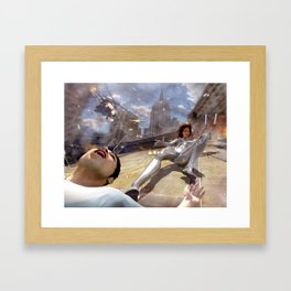 The Silver Ninja rooftop Framed Art Print