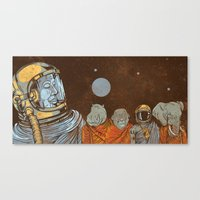 spiritual Canvas Prints featuring Spiritual Animals by Thomcat23