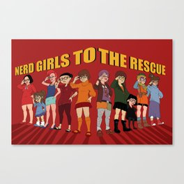 Nerd girls unite Canvas Print