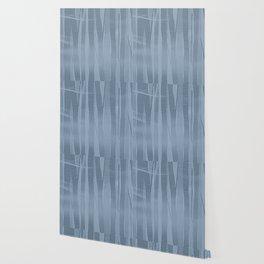 Woodland -  Minimal Blue Birch Forest Wallpaper