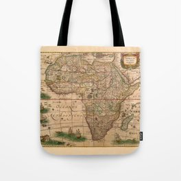 Map Of Africa 1641 Tote Bag