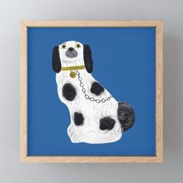 Blue Staffordshire Dog #2 Framed Mini Art Print