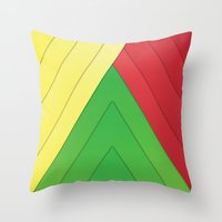 rasta Throw Pillows featuring Rasta Triangles by Arlo @ Creative Konzepts