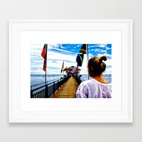 uncharted Framed Art Prints featuring Uncharted Pathway by ClaireAugello