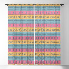African Style Pattern Sheer Curtain