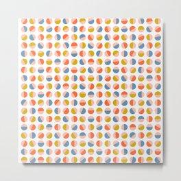 Split colour circles Metal Print