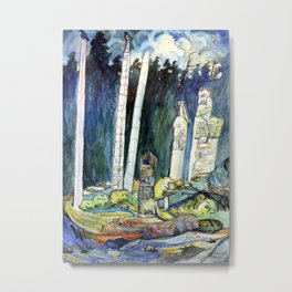 Emily Carr - Totems, Tanoo - Canada, Canadian Oil Painting - Group of Seven Metal Print