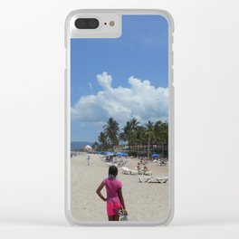 """""""Camille and The Beach"""" Clear iPhone Case"""