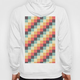 When dad was young - Pixel pattern in muted pastel colors Hoody