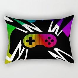 Rainbow Gamer Controller Rectangular Pillow