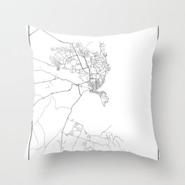 Minimal City Maps - Map Of Siracusa, Italy. Throw Pillow