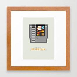 Super Mario Bros. Cartridge Framed Art Print