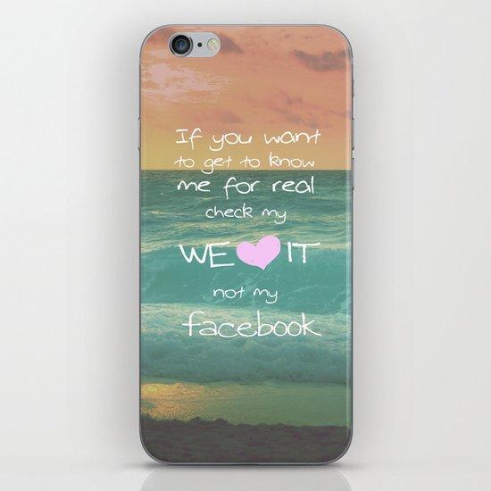 LOVE WE*HEART*IT iPhone & iPod Skin
