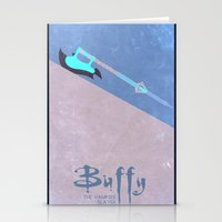 buffy the vampire slayer Stationery Cards featuring Buffy by Cloysterbell