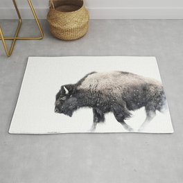 Bison in Yellowstone National Park Rug