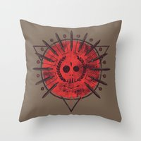 mars Throw Pillows featuring Mars by Hector Mansilla