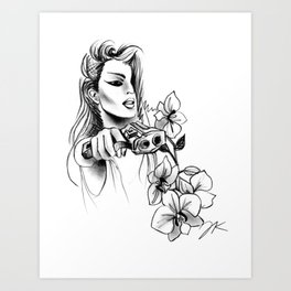 9MM Orchids Art Print