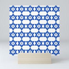 Star of David 23- Jerusalem -יְרוּשָׁלַיִם,israel,hebrew,judaism,jew,david,magen david Mini Art Print