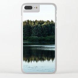Waterside Reflections Clear iPhone Case