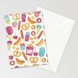 Carnival Food  Stationery Cards
