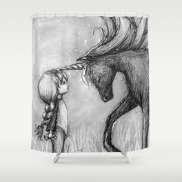 Enchantment of the Unicorn Shower Curtain