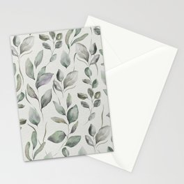 Beautiful Leaf Pattern II Stationery Cards