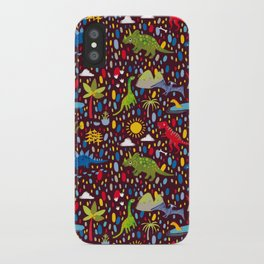Dinosaur Repeat iPhone Case