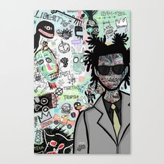 tribute to the late great basquiat. Canvas Print
