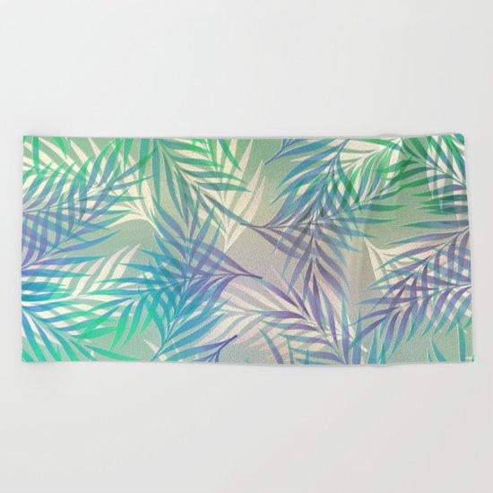 Palm Leaf Pattern Beach Towel