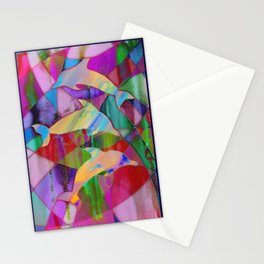 Caught in rainbow nets Stationery Cards