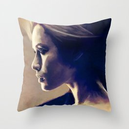 Portrait Of A Young Woman In Profile Throw Pillow
