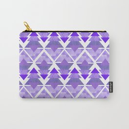Purple Geometric Forest Carry-All Pouch
