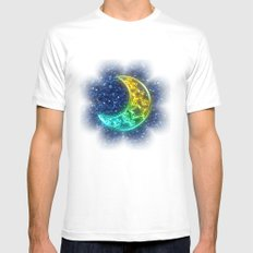 Moon Night MEDIUM White Mens Fitted Tee