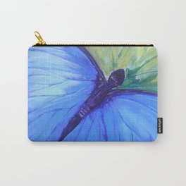 Blue Butterfly: Transfiguration Carry-All Pouch